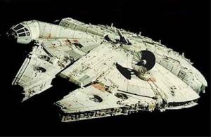Årtusendefalken, ett rymdskepp med en annan ganska kontroversiell driftteknik.