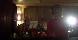 Foto från en studioinspelning 2007. (Som dock var i en bra studio!)