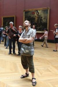 Man kan se konst på Louvren!