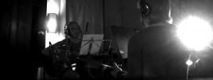 Foto från förra studioinspelningen med Gräsrotsorkestern, 2007.