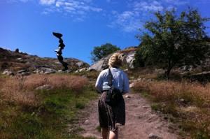 Mystiska skulpturer fanns även uppe i bergen.