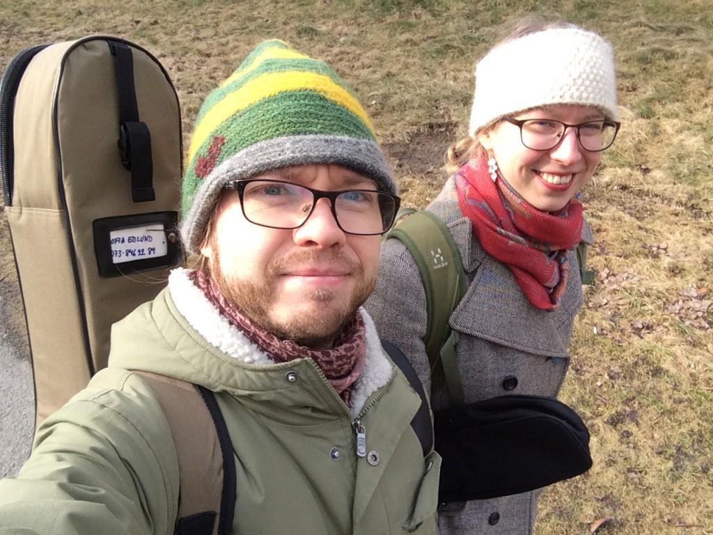 På väg till Spelning på Hisingen