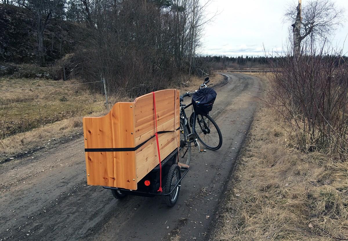 Dagen jag fick baksäte på cykeln